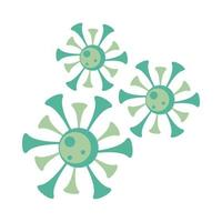 covid19 particles, pandemic icons vector