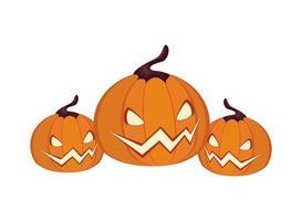 halloween jack o'lanterns vector