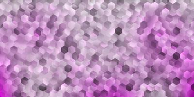 Light purple vector cover with simple hexagons.
