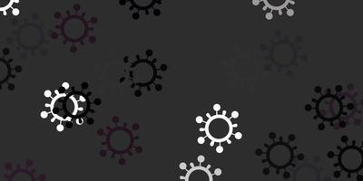 textura de vector gris claro con símbolos de enfermedades.