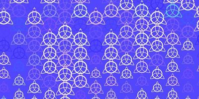 Light Purple, Pink vector backdrop with mystery symbols.