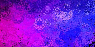 Fondo de vector violeta, rosa claro con triángulos.