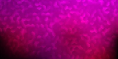 Dark pink vector texture with colorful hexagons.