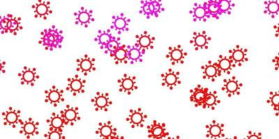 Light pink, red vector template with flu signs.