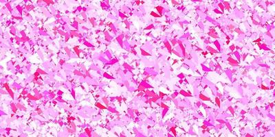 Dark Pink vector backdrop with triangles, lines.