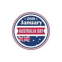 Australia day round badge. vector