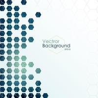 Hexagon designed background vector