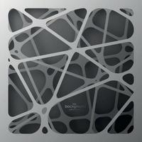 fondo gris con líneas grises en el aire a diferentes alturas. telaraña abstracta con sombra. vector