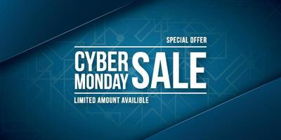 Cyber monday sale, special offer. Wide Banner. vector