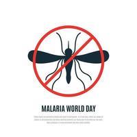 banner de vector de día mundial de la malaria. diseño moderno adecuado para folletos, carteles y pancartas.