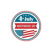 United States Independence Day icon. Badge for 4th of July.