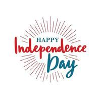 Happy United States Independence Day. 4th of July.