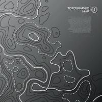 Topographic line map. Abstract topographic map concept with copy space. vector