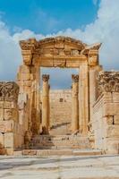 Ruins of the Nymphaeum in Gerasa, Jordan photo
