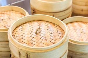 Stack of Chinese Bamboo Steamers
