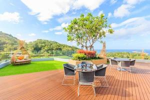 Apartment building terrace in Phuket, Thailand, 2017
