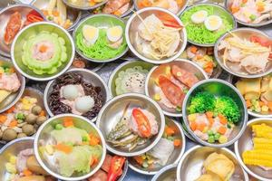 Various kinds of dim sum including dumplings photo