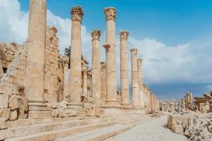 Ancient Roman ruins in Jerash, Jordan photo