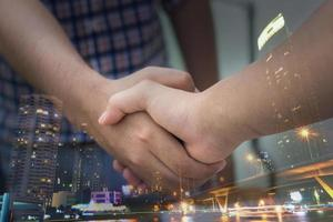 concepto de negocio de negociaciones foto