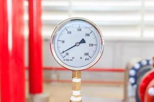 Fire water pump pressure gauge