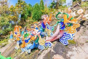 Statues at Chin Swee Temple, Kuala Lumpur, Malaysia photo
