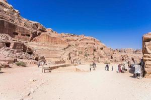 Teatro Antiguo en Petra, Jordania, 2018