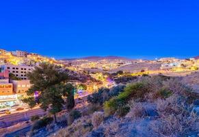 Wadi Musa town in Jordan, 2018 photo