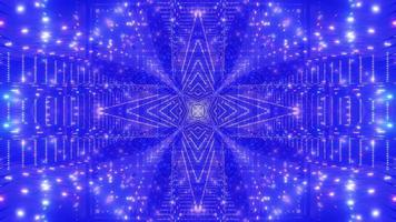 Blue, white, and green light and shapes kaleidoscope 3d illustration for background or wallpaper