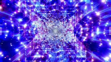Blue, purple, and white light and shapes kaleidoscope 3d illustration for background or wallpaper