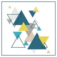 Fondo escandinavo abstracto que consta de triángulos multicolores.