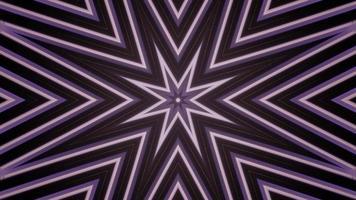 Ilustración 3d de caleidoscopio de formas azules, negras y blancas para fondo o papel tapiz foto