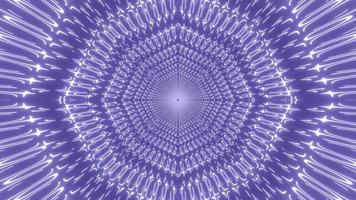 Blue and white lights and shapes kaleidoscope 3d illustration for background or wallpaper photo