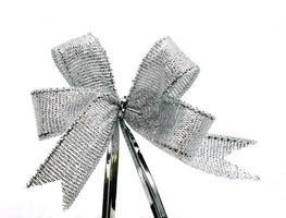 Silver ribbon bow photo