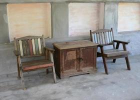 muebles de madera rústica foto