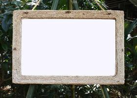 maqueta de marco de madera foto