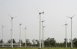 campo de turbinas eólicas