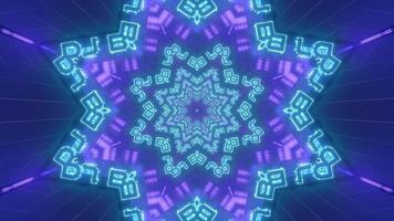 Blue and purple shapes and design kaleidoscope 3d illustration for background or wallpaper