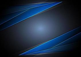 Plantilla abstracta superposición metálica azul con estilo de tecnología moderna luz azul sobre fondo oscuro. vector