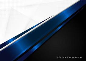 Template corporate concept blue black grey and white contrast background. vector