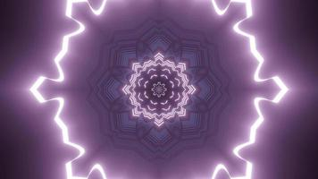 Colorful kaleidoscope 3d illustration design for background or wallpaper photo