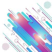elementos redondeados geométricos azules y rosados abstractos superposición dinámica y líneas sobre fondo blanco. vector