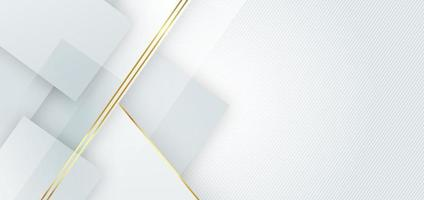 Abstract template grey geometric overlapping background with striped lines golden. Luxury style. vector