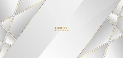 Abstract white background with golden line luxury. vector