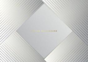 Abstract white triangle background with striped lines golden. Luxury style. vector