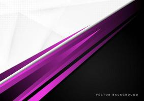 Template corporate concept purple black grey and white contrast background. vector