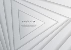 Fondo de capas de triángulos geométricos blancos y grises de diseño moderno abstracto. vector