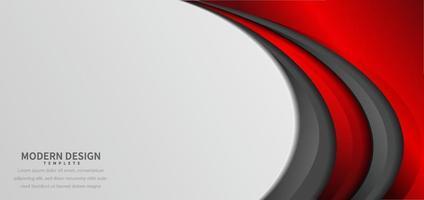 degradado rojo y gris moderno abstracto curvado sobre fondo blanco con espacio para copiar texto. vector