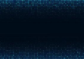 Abstract blue color dot pattern on dark blue background with copy space for text. vector