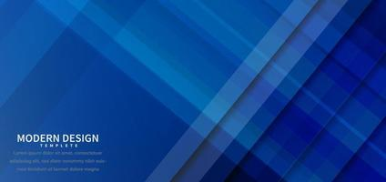 Banner design geometric blue overlapping background with copy space for text. vector