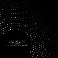 Abstract luxury gold dot circle pattern background with copy space for text. vector